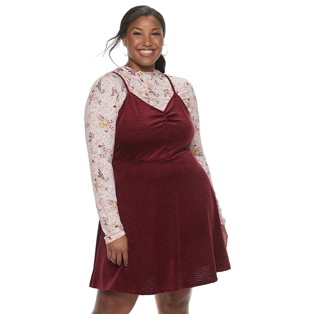 Juniors' Plus Size Mudd® Combination Dress