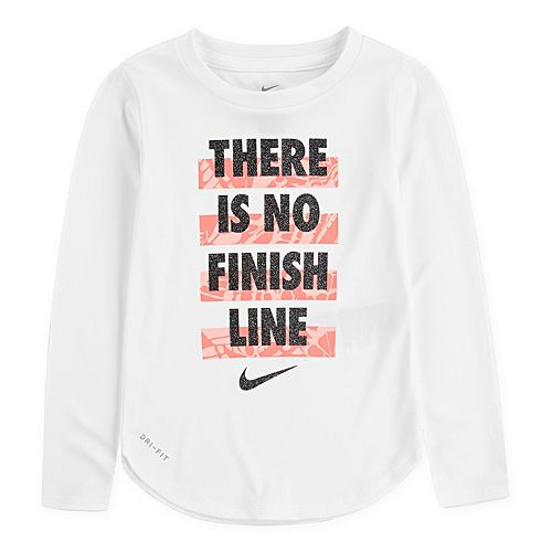 """Toddler Girls 2T-4T Nike Dri-FIT """"There Is No Finish Line"""" Tee"""