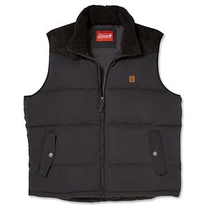 Men's Coleman Vest with Faux-Suede Yoke