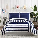 Makers Collective Ampersand Black Stripe Quilt Set