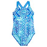 Girls 7-16 SO® Patterned Dash 1-Piece Swimsuit