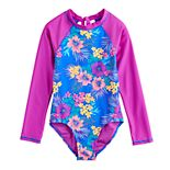 Girls 7-16 & Plus Size SO® Surf Island Long Sleeve Rashguard