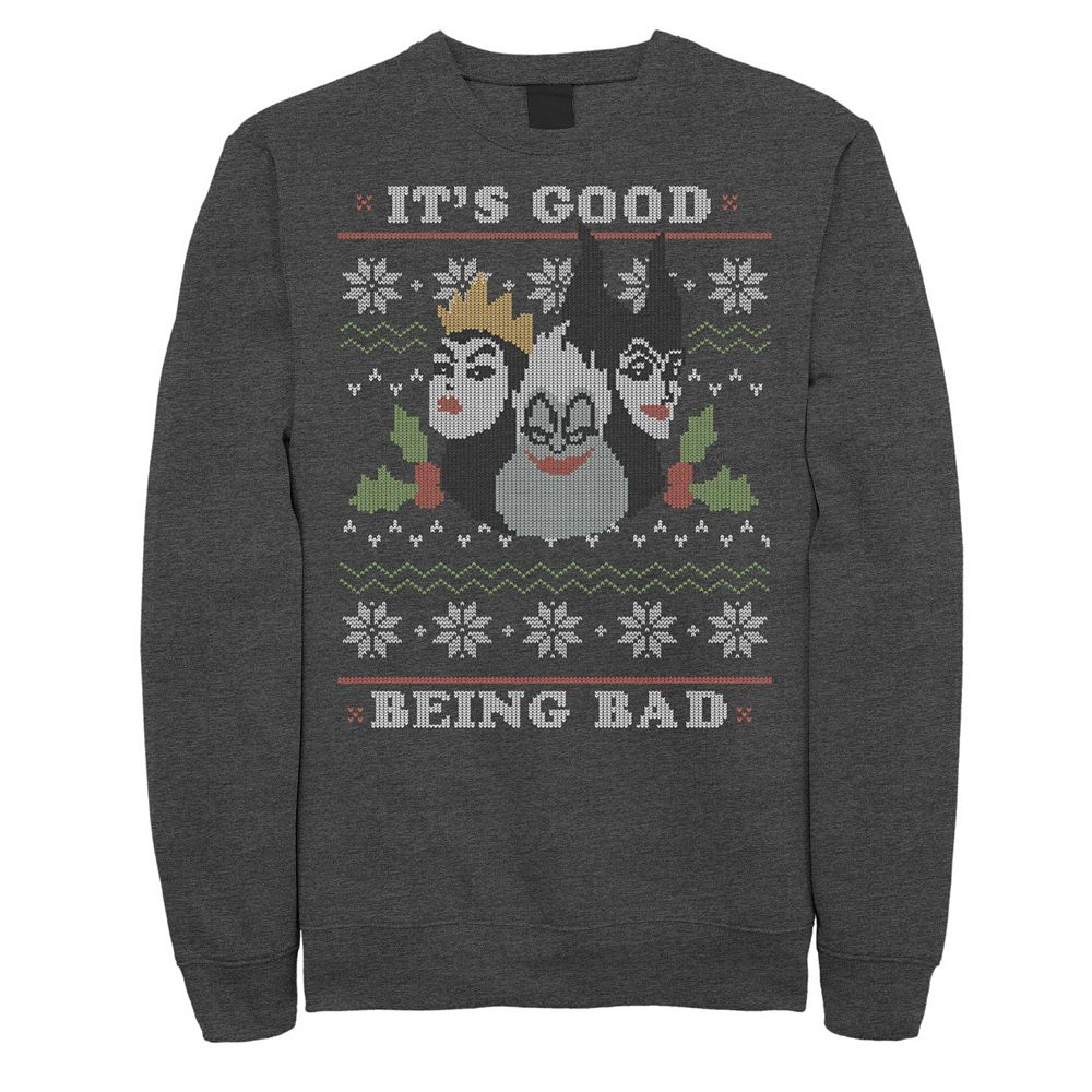 Men's Disney Villains Good To Be Bad Ugly Christmas Fleece