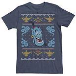 Men's Disney Aladdin Genie Ugly Christmas Sweater Tee