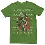 Men's Star Wars Santa Yoda Ugly Christmas Sweater Tee