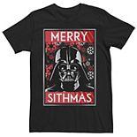 Men's Dallas Stars Star Wars Darth Vader Merry Sithmas Poster Tee