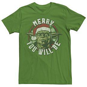Men's Dallas Stars Star Wars Yoda Merry You Will Be Christmas Tee