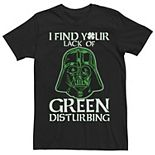 Men's Star Wars Vader Lack Of Green Disturbing Tee