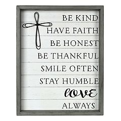 New View 'Be Kind' Cross Wall Decor
