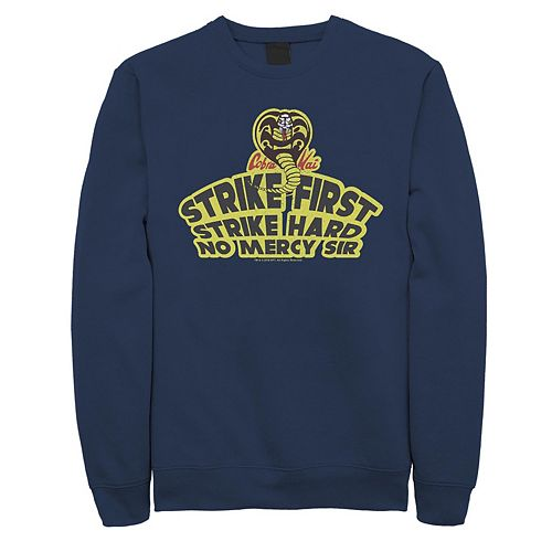 Men's Cobra Kai Strike First Quote Poster Fleece