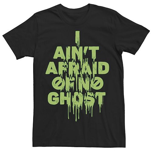 Men's Ghostbusters I Ain't Afraid Of No Ghosts Slime Drip Tee