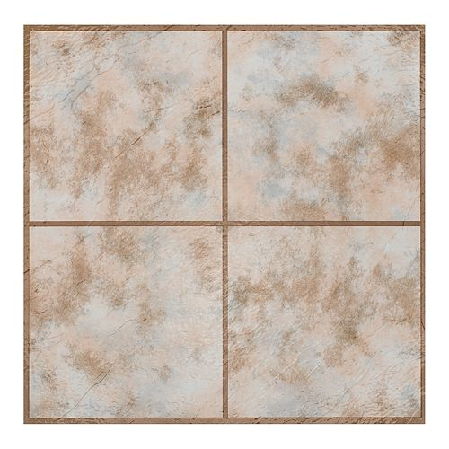 Achim Rustic Clay 9-piece Self Adhesive Vinyl Floor Tile Set