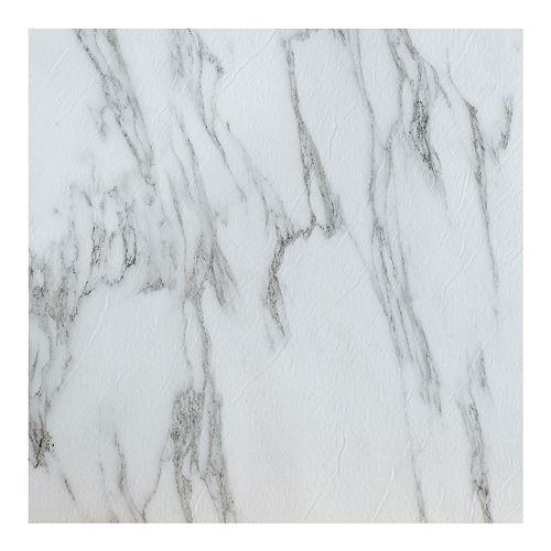 Achim Tivoli Bianco Marble 45-piece Self Adhesive Vinyl Floor Tile Set