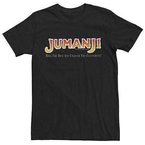 Men's Jumanji Roll The Dice Unleash The Excitement Movie Logo Tee