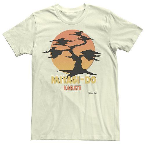 Men's Karate Kid Miyagi Do Bonzai Tree Silhouette Sunset Tee