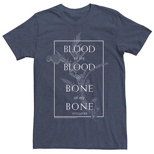 Men's Outlander Blood Of My Blood Bone Of My Bone Blood Thistle Poster Tee