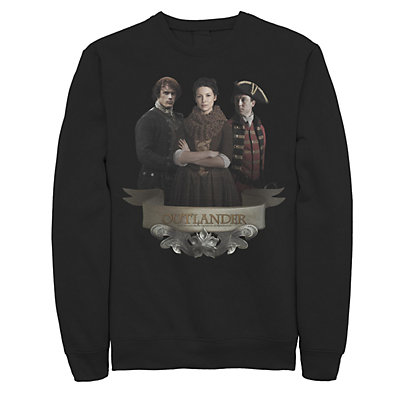 Men's Outlander Love Triangle Portrait Logo Banner Fleece