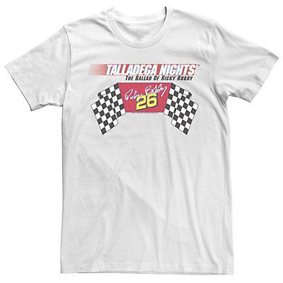 Men's Talladega Nights Checkered Flag Logo Tee