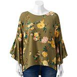 Plus Size LC Lauren Conrad Petal Sleeve Blouse Top
