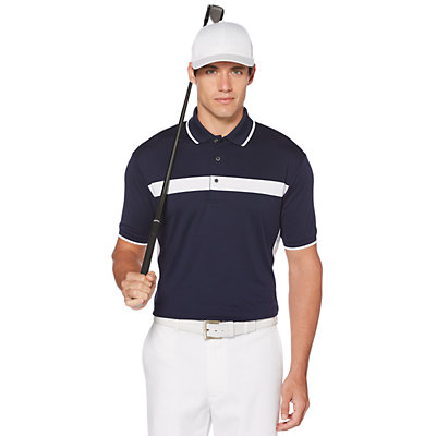 Men's Grand Slam On Course Classic-Fit Side and Chest Blocked Polo