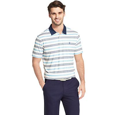 Men's IZOD SwingFlex Striped Performance Golf Polo