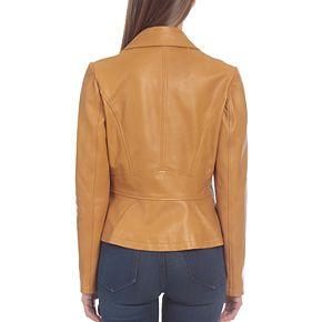 Women's Bagatelle Asymmetrical Genuine Leather Jacket