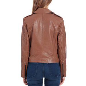 Women's Bagatelle Genuine Leather Biker Jacket