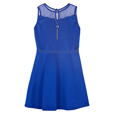 Girls 7-16 IZ Amy Byer Fit & Flare Illusion Neckline Dress