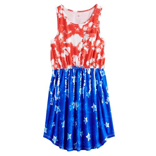 Girls 7-16 & Plus Size SO® Tie Waist Tank Dress