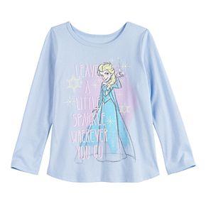 Disney's Frozen Elsa Toddler Girl Glittery Graphic Tee by Jumping Beans®