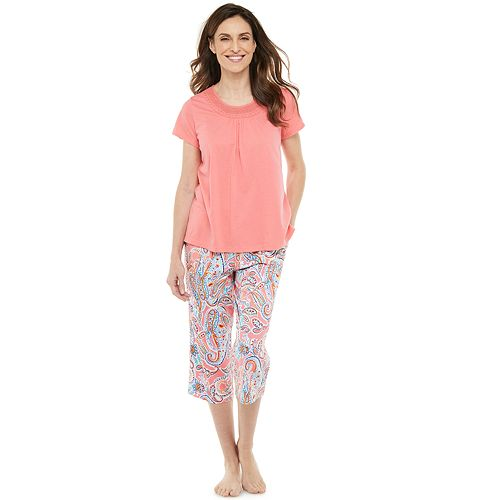 Women's Croft & Barrow® Pajama Tee & Pajama Capri Set