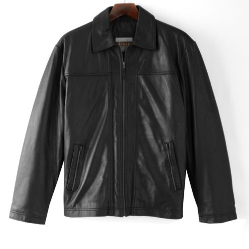 Excelled Straight Bottom Leather Jacket - Big and Tall