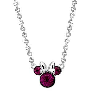 Disney's Minnie Mouse Birthstone Necklace