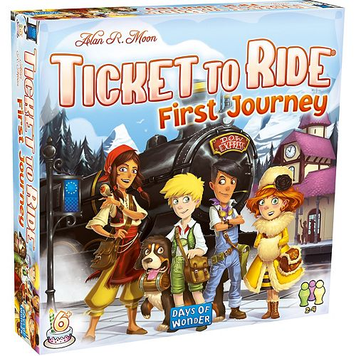 Ticket to Ride First Journey Europe: 2-4 Player Board Game