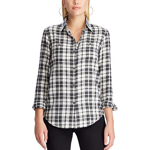 Women's Chaps Plaid Shirt