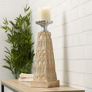 Scott Living Oasis Wood Pillar Candle Holder
