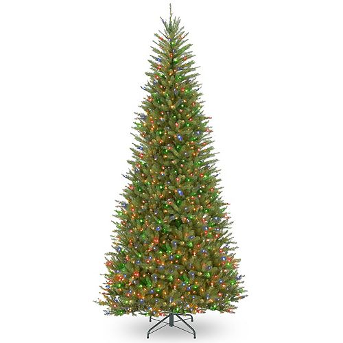 National Tree Company 9 ft. Dunhill® Fir Slim Tree with Multicolor Lights