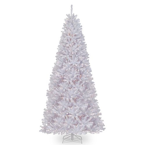 National Tree Company 12 ft. North Valley(R) White Spruce Tree with Clear Lights