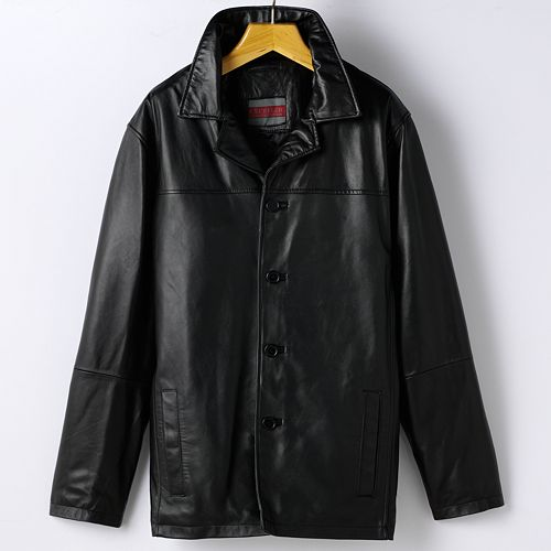 & Tall Excelled Leather Car Coat