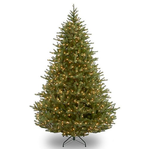 National Tree Company 9 ft. Noble Fir Tree with Clear Lights