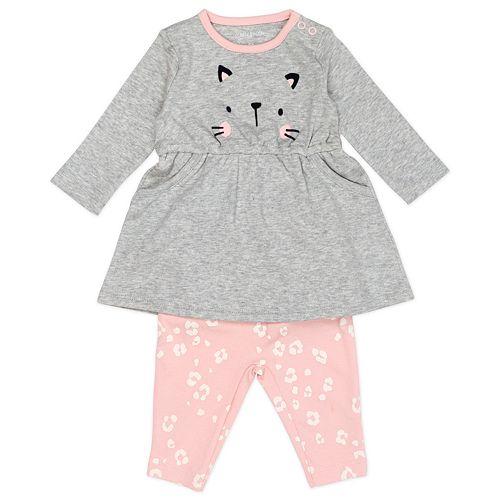 Baby Girl Mac & Moon 2-Piece Bodysuit Dress & Legging Set