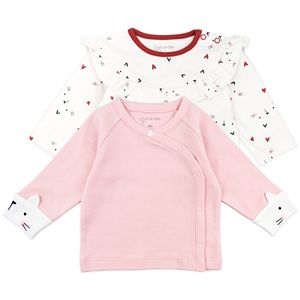 Baby Girls Mac & Moon 2-Pack Fashion Tops in Cat Print
