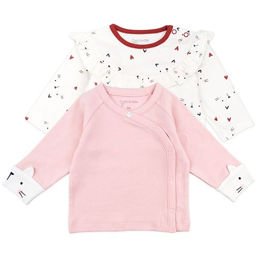 Baby Girls Mac & Moon 2-Pack Fashion Tops in Cat Print