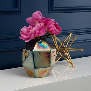 Scott Living Luxe Jewel Luster Glass Geo Vase