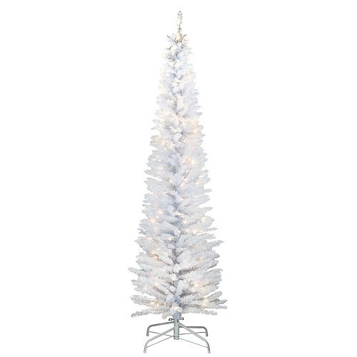 National Tree Company 6-ft. Pre-Lit White Iridescent Tinsel Tree