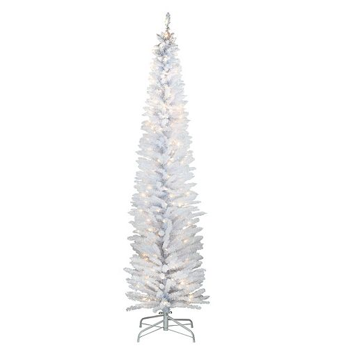National Tree Company 7-ft. Pre-Lit White Iridescent Tinsel Tree