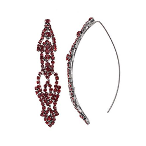 Simply Vera Vera Wang Red Lace Threader Earrings