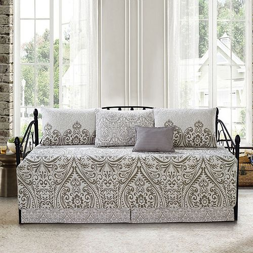 Serenta Visionary Damask 6-Piece Quilted Daybed