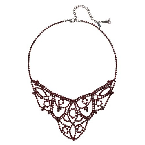Simply Vera Vera Wang Red Stone Lace Frontal Necklace