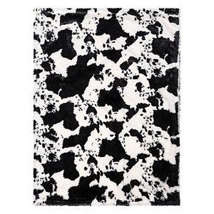 Trend Lab Cow Print Plush Baby Blanket